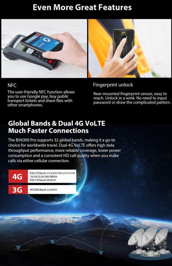 BLACKVIEW BV6300 PRO CON NFC LECTOR DE HUELLAS DACTILARES Y COMPATIBLE CON 4G EN MEXICO