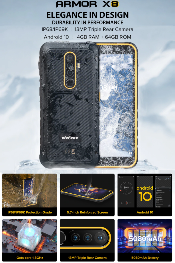 POSTER ULEFONE ARMOR X8