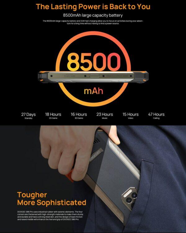 DOOGEE S86 PRO 128GB + 8GB - 4